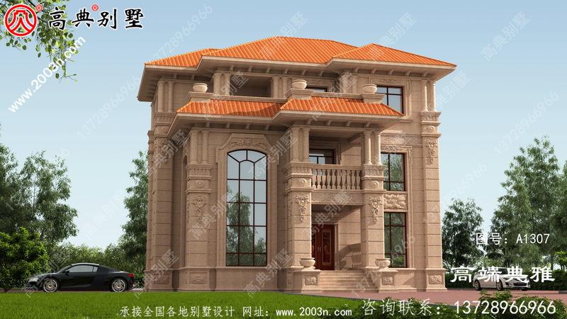 欧式石材三层乡村别墅设计图纸,强烈推荐乡村建造