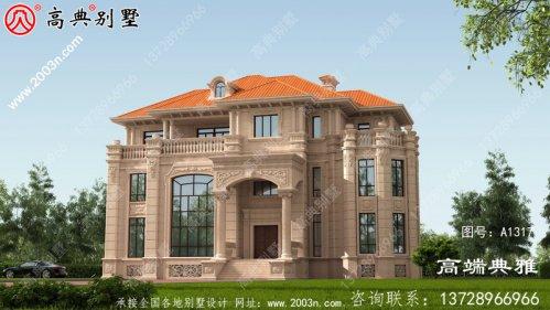 欧式古典三层别墅设计图纸,欧式别墅设计设计