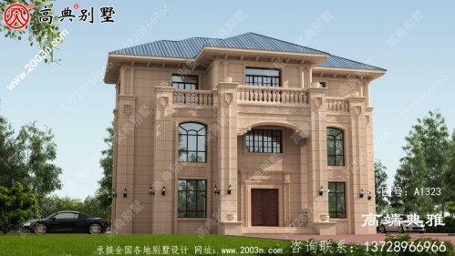 三层别墅的设计图在外观和效果上都非常