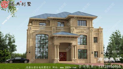 三楼别墅设计图,外观效果图好看内部使用