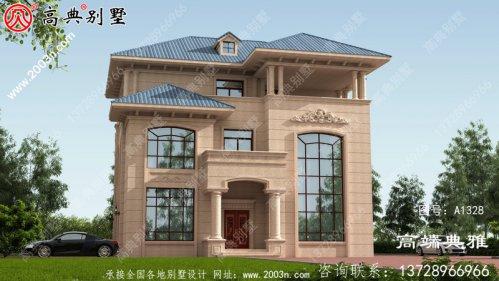 全套三层农村房屋设计图纸,客厅