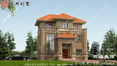 简欧三层别墅住宅设计图纸带复式