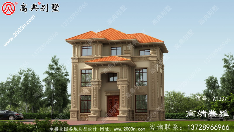 小型农村自建简欧三楼别墅住宅设计图