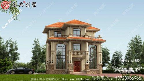 双复式欧式三层房屋设计图纸,外