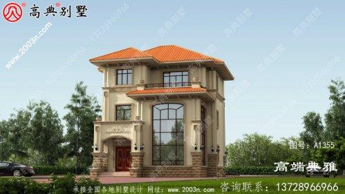 欧式三层自建别墅设计图纸美观实用。