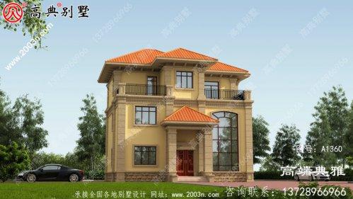 欧式三层别墅设计设计效果图,大厅挑空设计