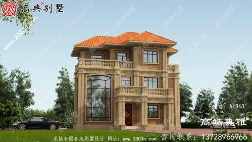 高端欧式复式设计三层别墅外观设