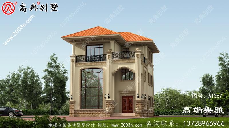 住宅设计图纸及设计效果图,三层楼房设计图展现