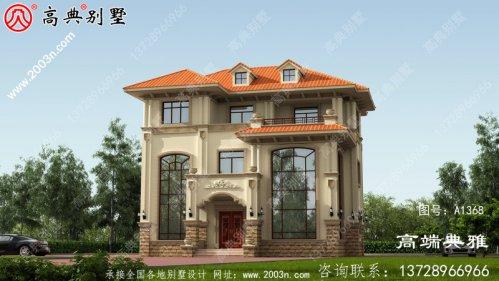 农村住宅设计图、效果图和三层建筑设计图。