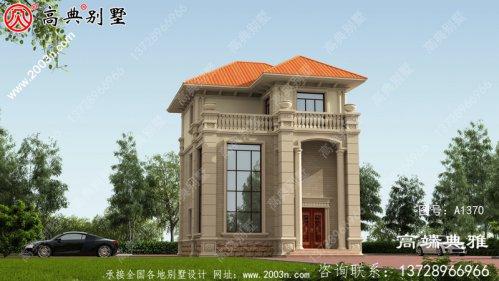 三楼新农村住宅设计图和效果图带