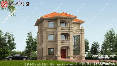 欧式石材三层别墅设计图,农村自建推荐户型