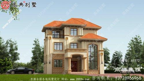 三楼别墅设计图,农村自营住宅推荐户型