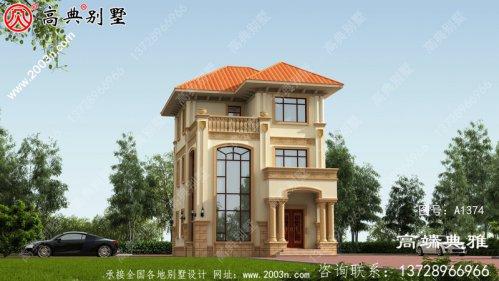 小户型三层别墅住宅设计图,包括