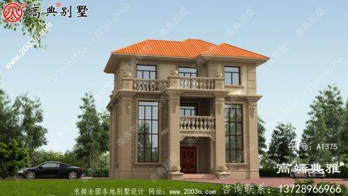双复式三层别墅房屋的设计图包括效果照片