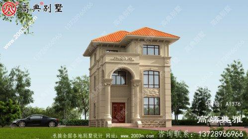 别墅设计图纸(含外型设计效果图,)三层别墅
