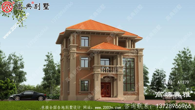简欧风格三层别墅建筑设计图纸,小复式楼中楼构造