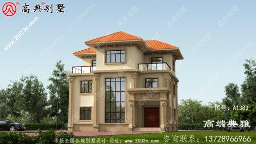三层农村楼房设计图及设计效果图