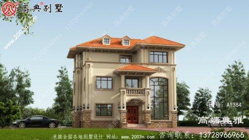 复式欧式三层农村建筑的设计和效
