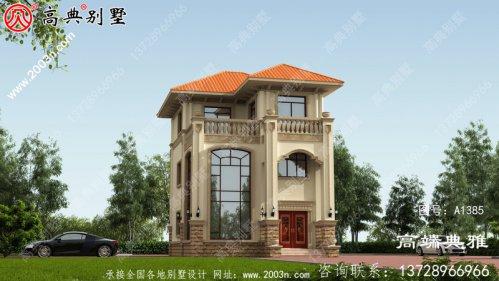 占地88平的小户型欧式三别墅设计图和效果图