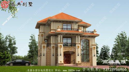 三层别墅的设计图在外观和效果上