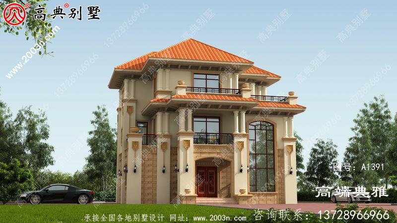 三层别墅的设计图在外观和效果上都非常漂亮。