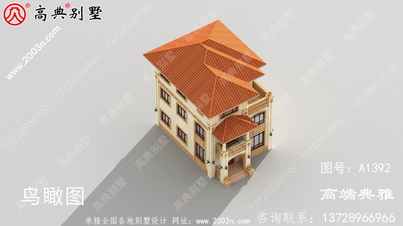 简欧三楼别墅设计图,外观效果图好看
