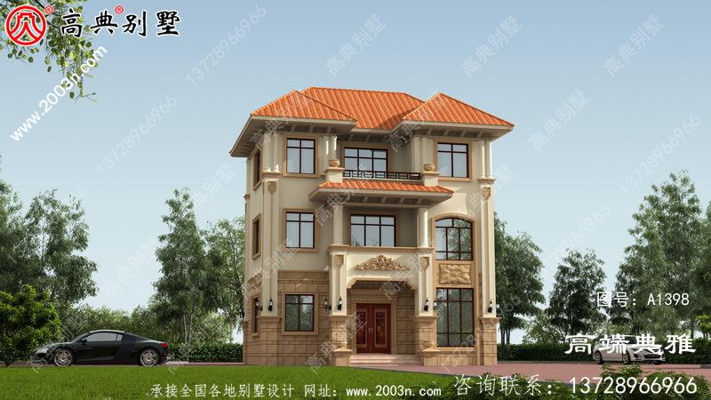适合占地小的三层自建别墅设计图纸及效果图占地74平