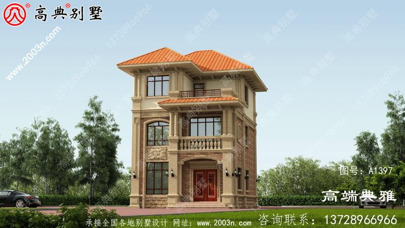 小户型三层建造别墅设计图纸及设计效果图
