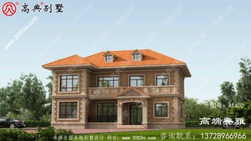 建造二层房别墅设计图,工程造价