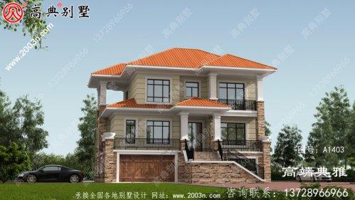 自建三层别墅的设计图成本低廉,施工简单。