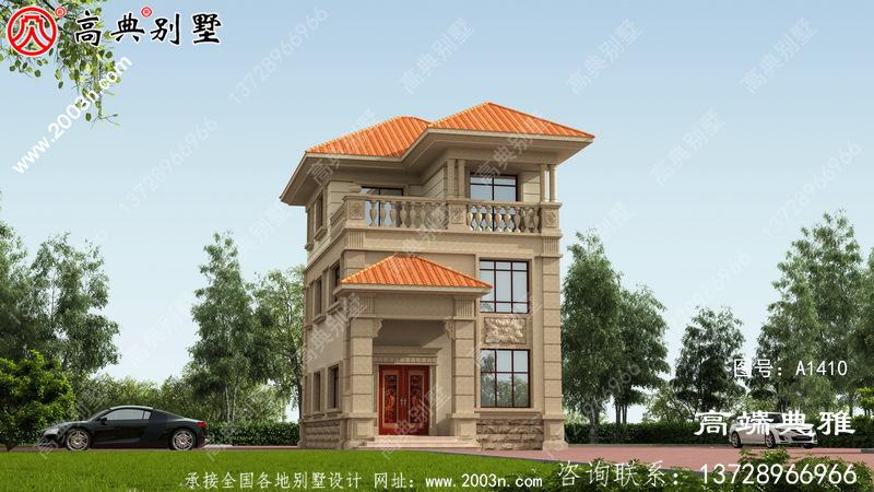小户型美丽实用的欧式三层新别墅设计图纸