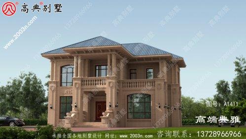 欧式石材三层别墅设计照片及整套工程图纸