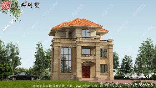 复式三层别墅设计照片和一套图纸,客厅空洞