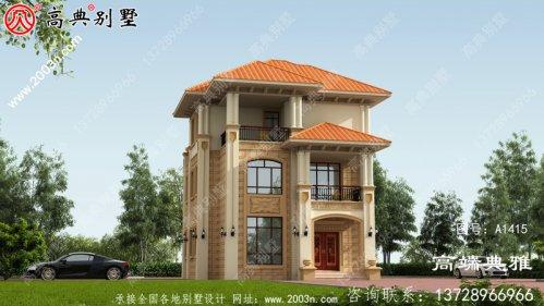 三层楼房设计图,平面图空间布局确立,布局有