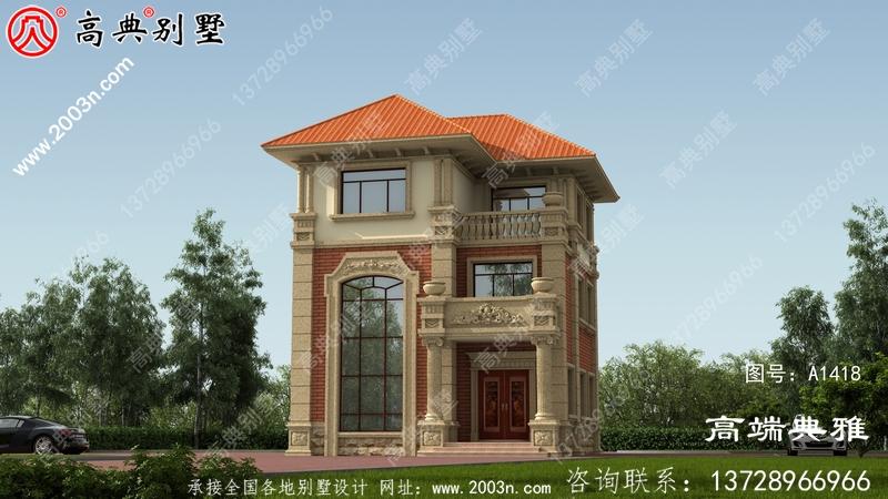 小户型房子奢华三层别墅设计图,带豪华套房