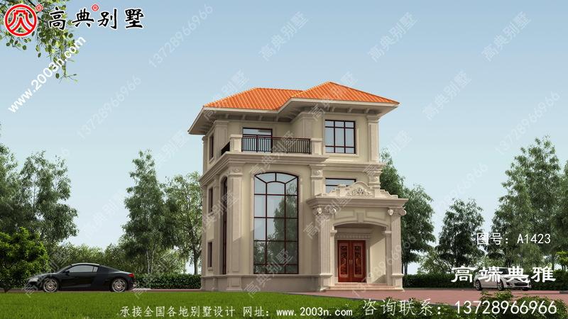 三层别墅住宅设计图纸(含外型设计效果图)