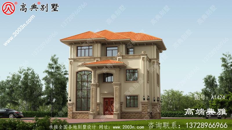 三层别墅住宅设计图(包括外观效果图)