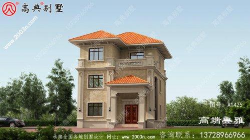 三楼简易新农村房屋设计图纸,适