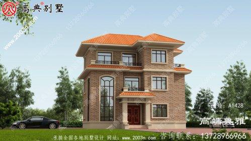 三层房屋设计图纸及设计效果图,别墅设计图选