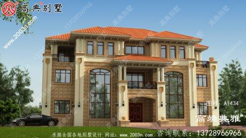 复式设计大户型别墅房屋设计图,大客厅宽敞光