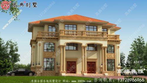 大户型别墅的房子设计图,客厅宽敞明亮