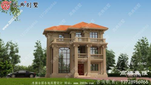 新农村三层建住宅设计图,占地102平方