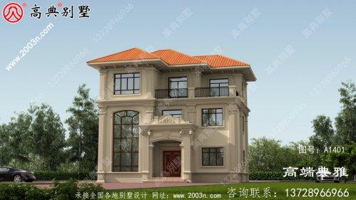 三层简欧别墅设计图纸,欧式古典带外型设计效