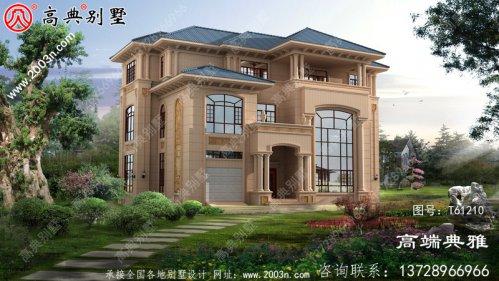 新农村复式三层别墅设计图纸及效果图_三层乡村