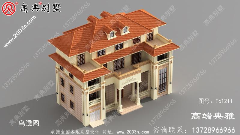 新农村四层欧式别墅设计图纸及效果图_四层乡村房屋设计图纸