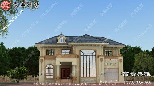 新农村简单二层复式别墅设计图纸_农村两层自建