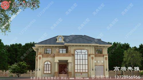 农村复式二层欧式别墅设计图纸_农村两层自建房