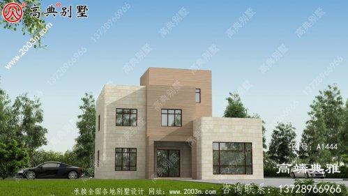 新农村现代建设三层房屋设计图纸,外型简易大