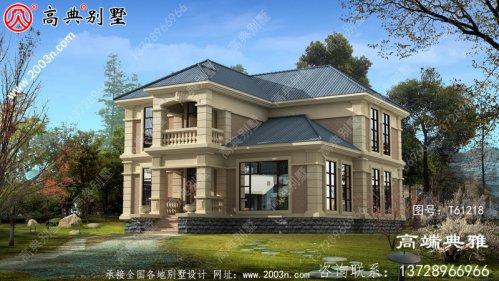 二层简欧小别墅设计图纸_农村二