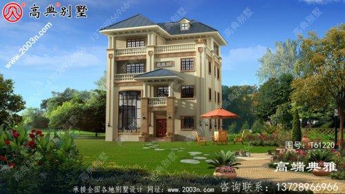 欧式四层复式别墅设计效果图_农村房屋设计图纸